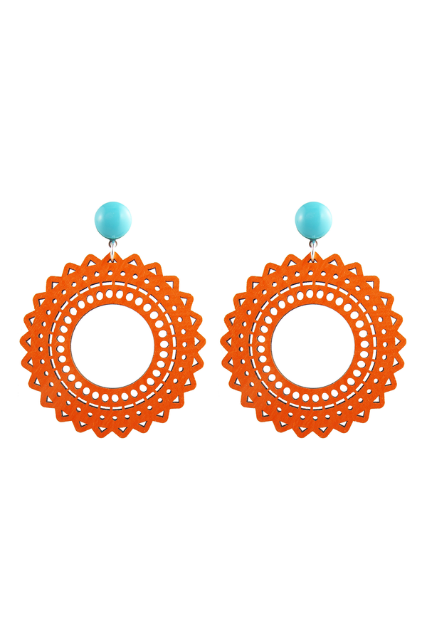 Vara Earrings Orange