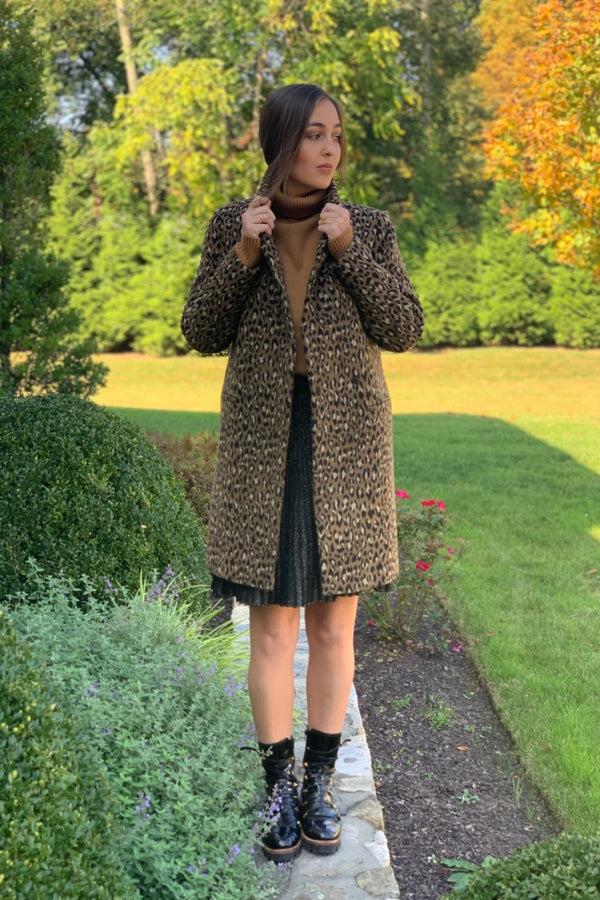 Long Molly Coat Leopard Print
