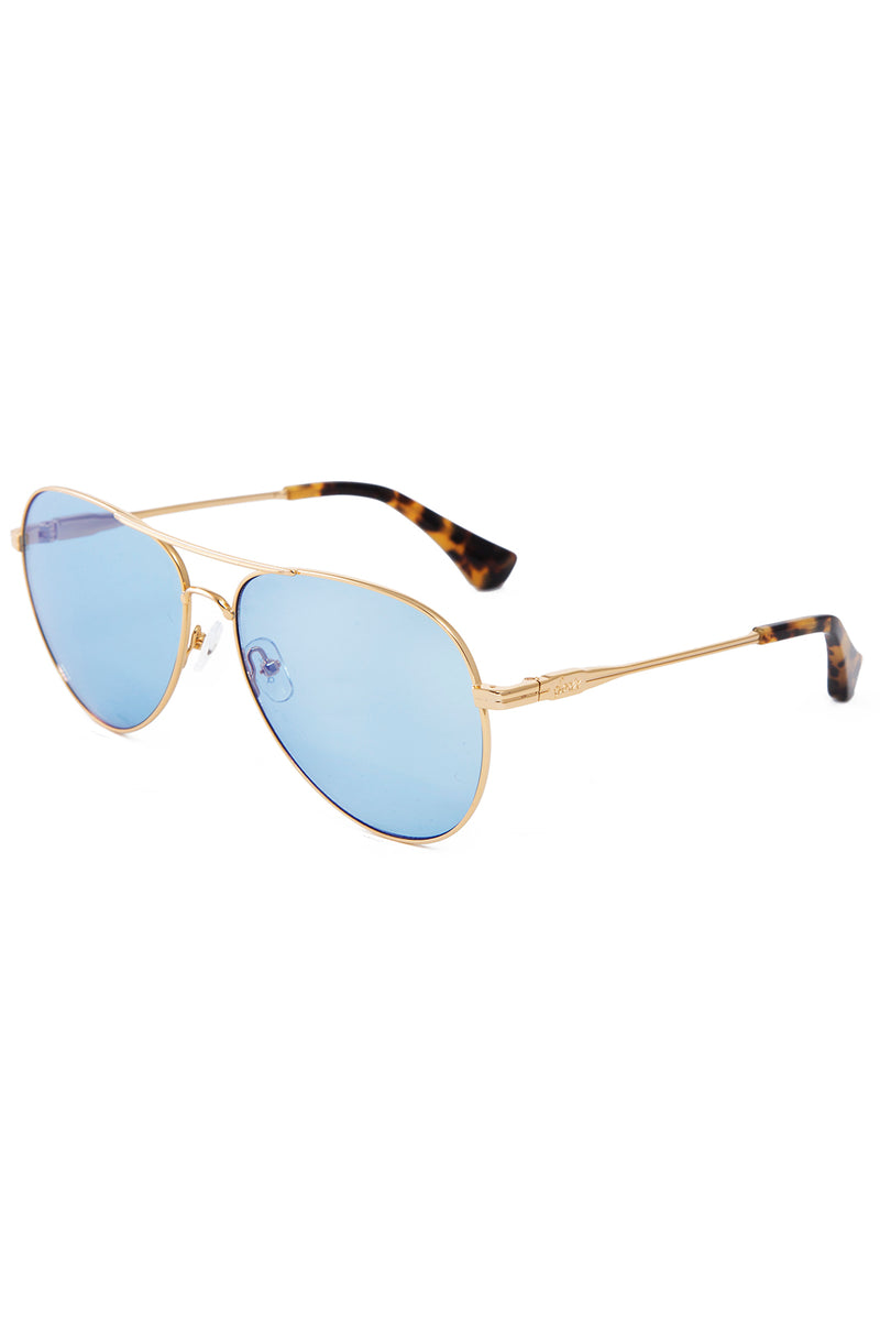 Lodi Gold, Powder Blue Lenses