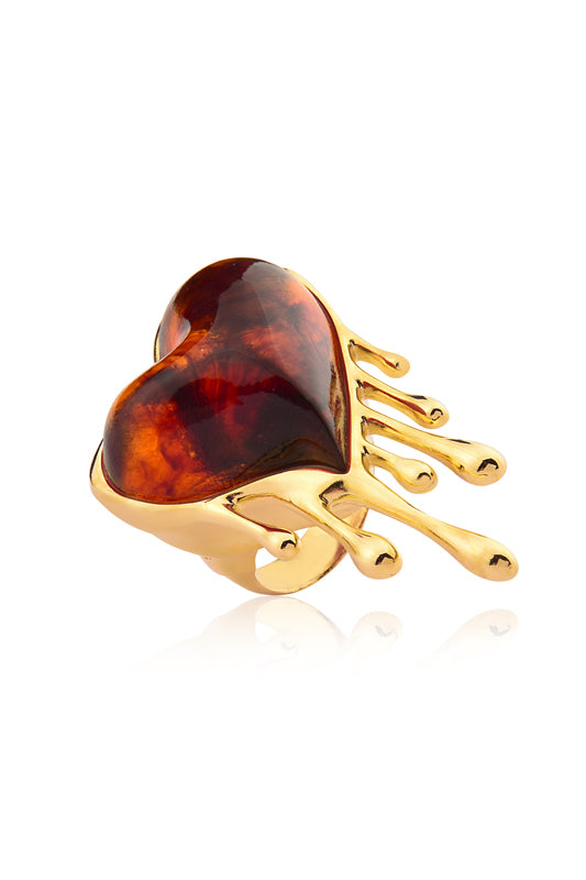 Passion Heart Ring Caramel