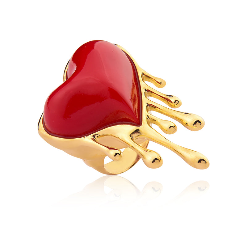 Passion Heart Ring Red