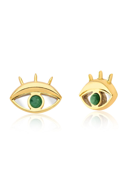 Look Mirror Earrings Emerald