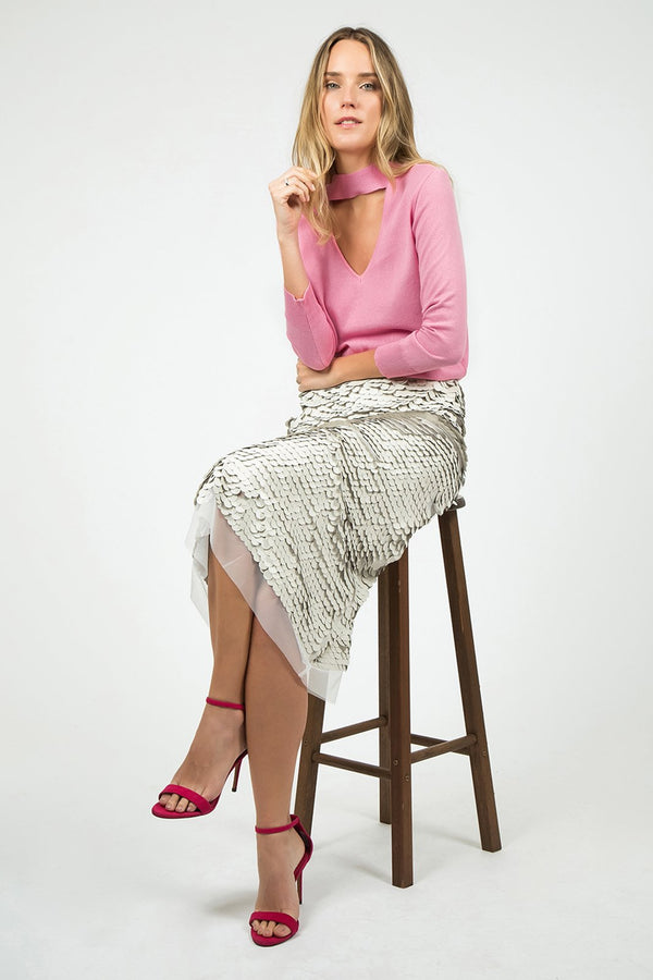 Pink Tricot 3/4 sleeves