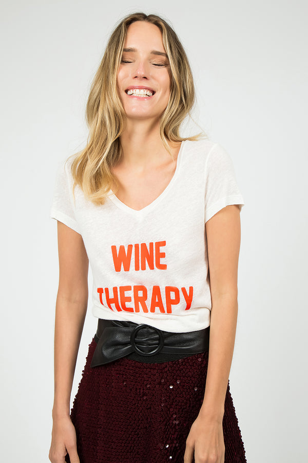Wine therapy T-Shirt Off-White