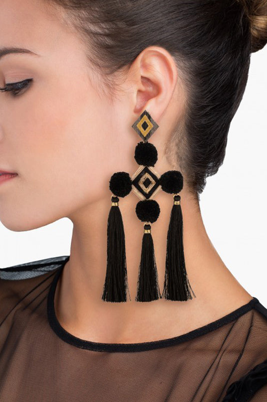 Nazar Negro Earrings