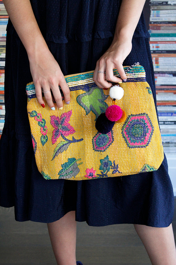 Mila Print Purse Yellow