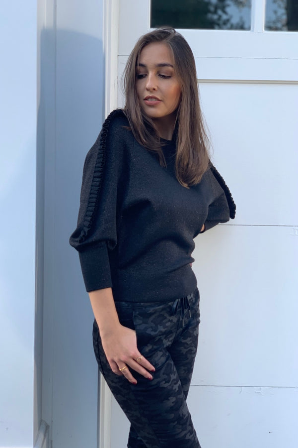Natacha Knit Top Black