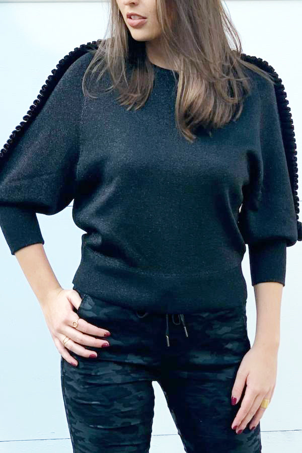 Natasha Knit Top Black
