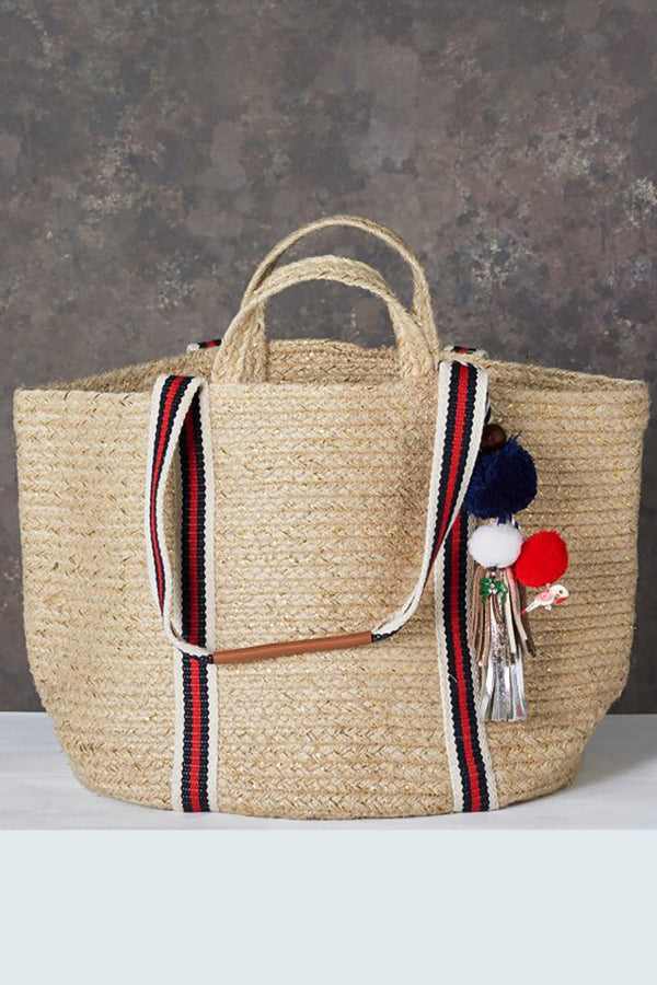 Popi Lurex Basket Red/Navy