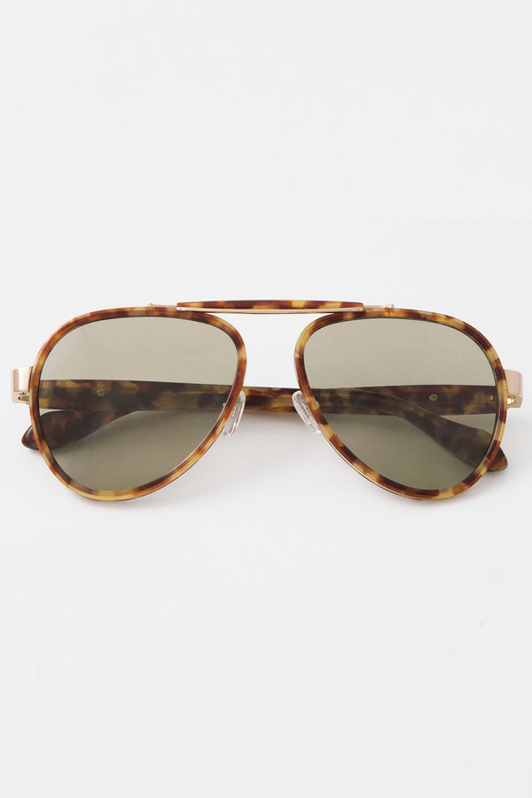 Pablo Brown Tortoise, Sage Lenses
