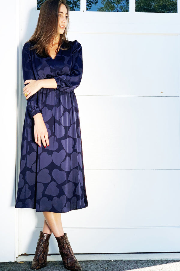 Remie Dress Navy Blue