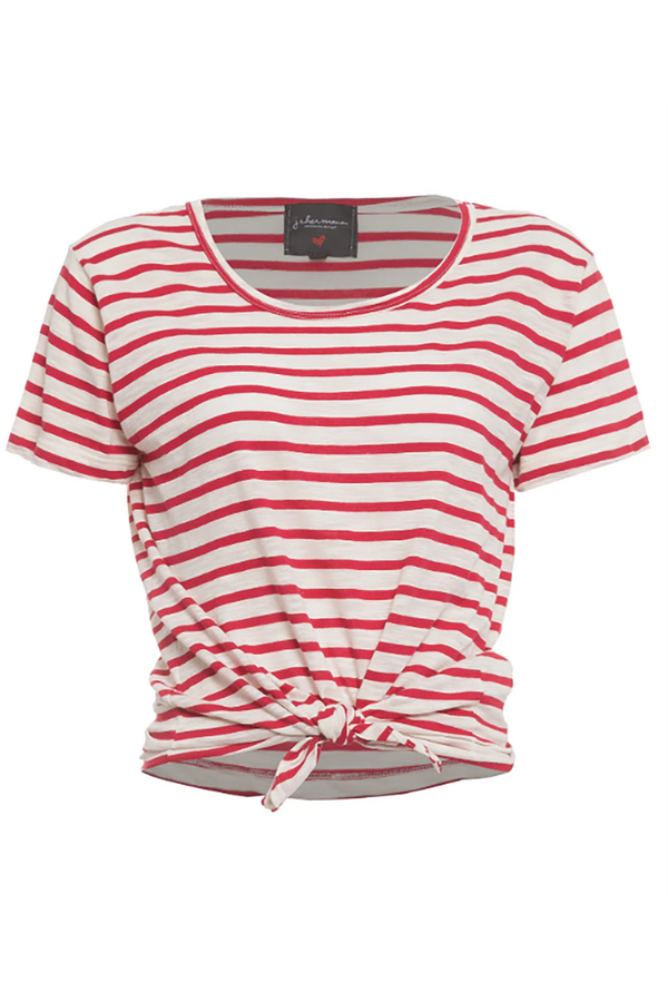 Paris Stripes Top Red White