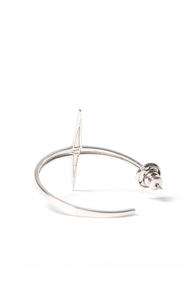 Small Star Hoops Rhodium