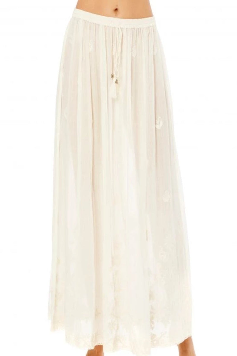 Ista Embroidered Maxi Skirt