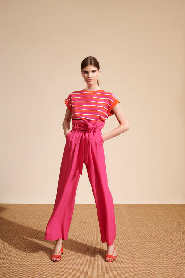 Pia Trousers in Fuchsia