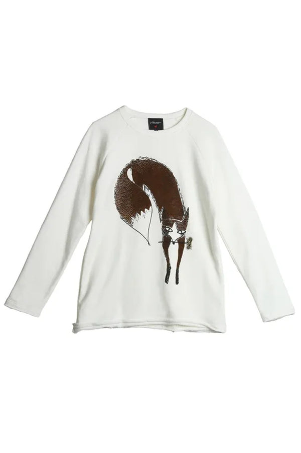 Fox Sweatshirt Off White