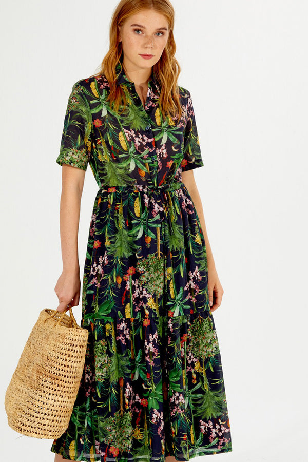 Evenline Dress Green