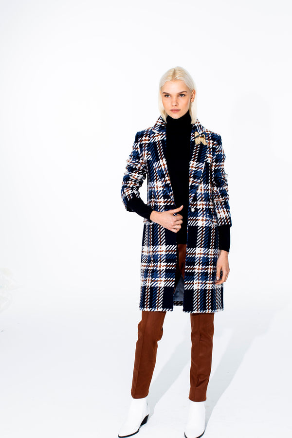 Aricia Lombardia Check Coat