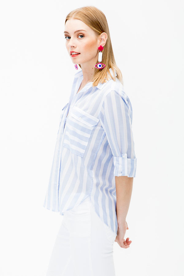 Gabriela Embroidered Long Shirt