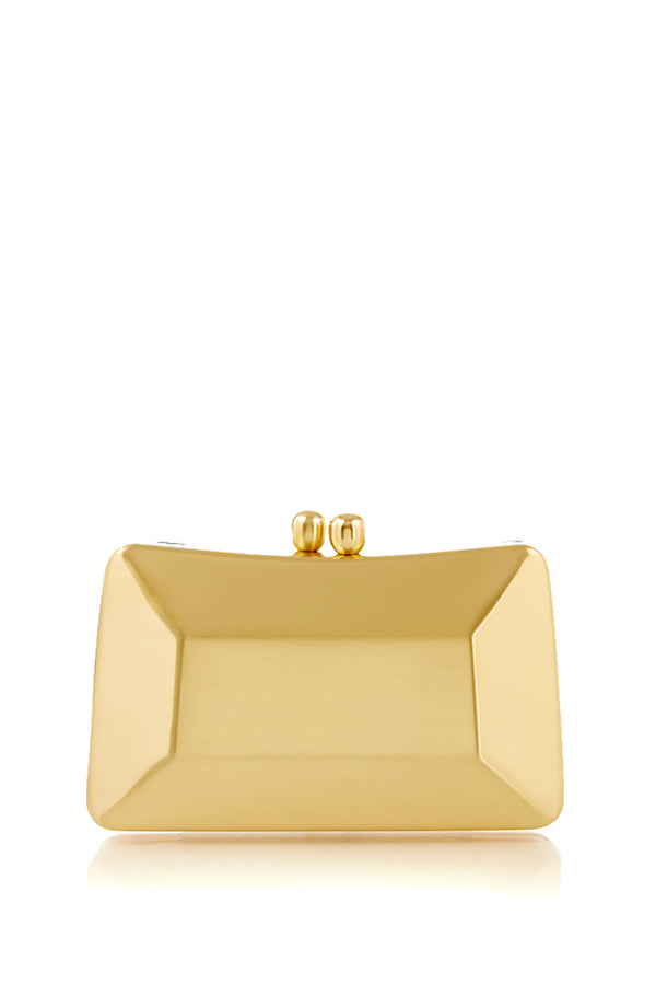 Cecilia Brushed Matte Gold Clutch
