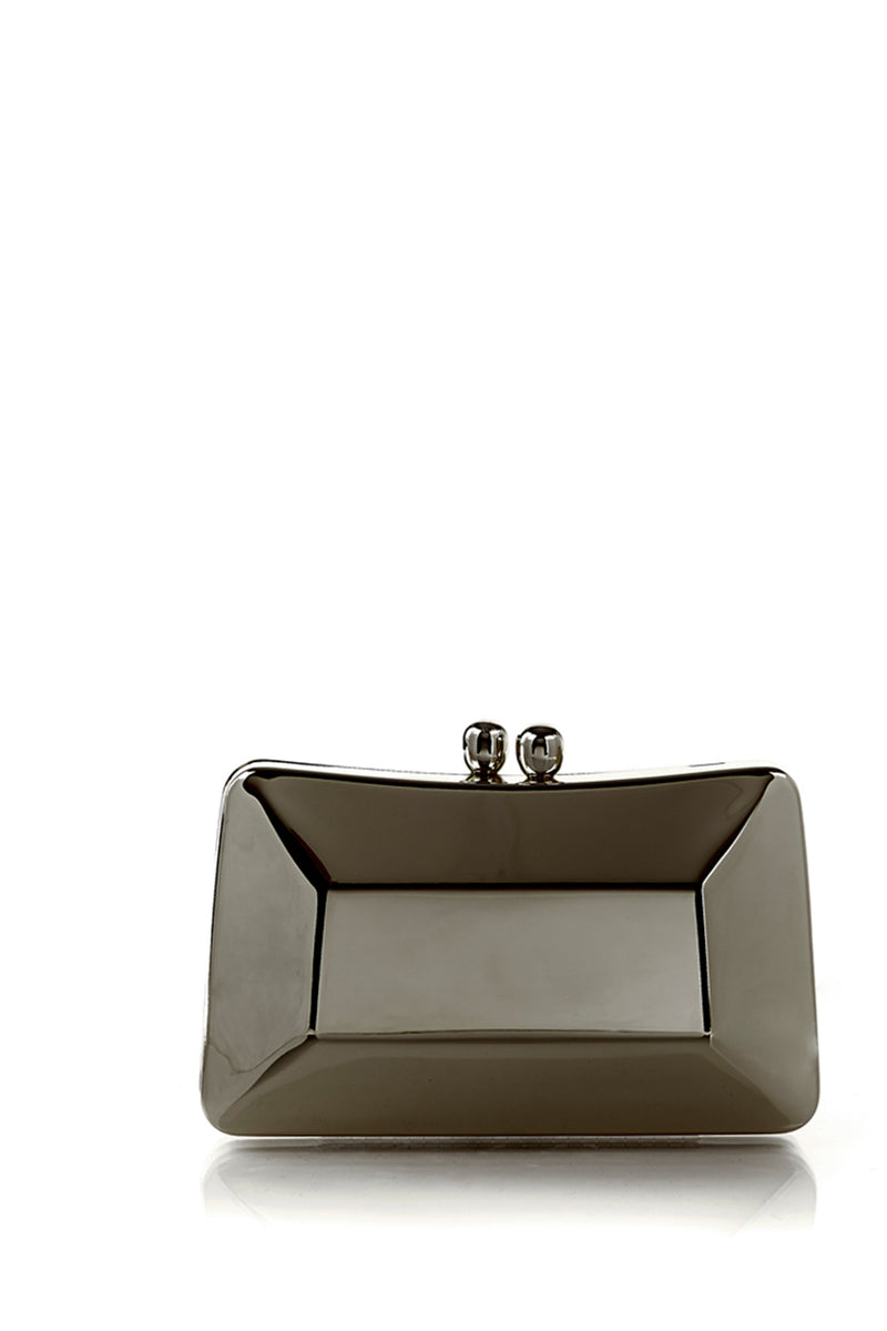 Cecilia Pewter Brushed Clutch