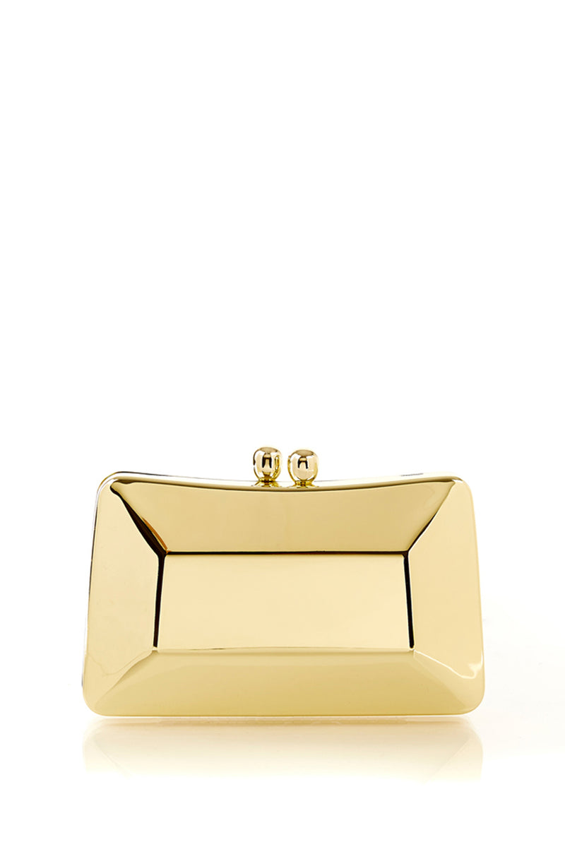 Cecilia Shinny Gold Clutch