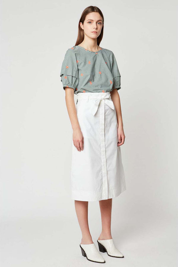 Papel Midi Skirt White