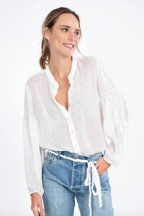 Puffed Sleeve Shirt Off White