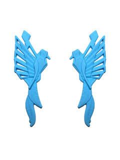 Origami Blue Earrings