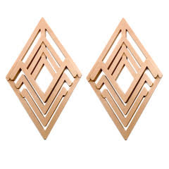 Diamond Brown Earrings