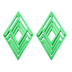 Diamond Green Earrings