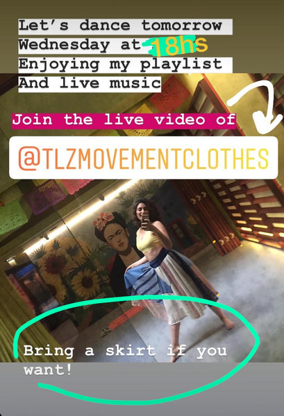 Let´s dance together in LIVE Instagram