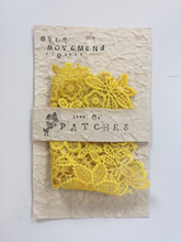 Load image into Gallery viewer, product patch XL yellow folded iron on recycled packaging gift