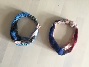 Twist front headband, sustainable,  made in London