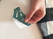 Load image into Gallery viewer, Abstract Big Embroidered Patch in Green to Iron On and Mend, Applique and Patches