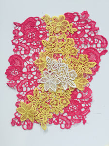 Large Abstract Embroidered Patch in to Iron On and Mend, Applique and Patches