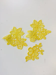 patches 3 yellow embroidery iron on product colorful rework