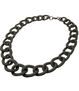 Matte Black Bold Chain Necklace