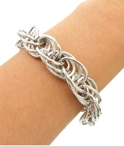 Linked Silver Chain Bracelet