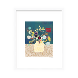 'Blue Floral' Limited Edition Print Emma Repp