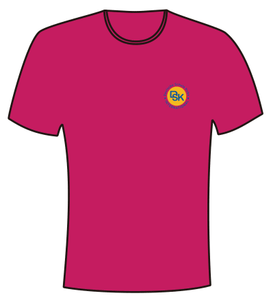 DSK T-SHIRTS PINK (POLYESTER)