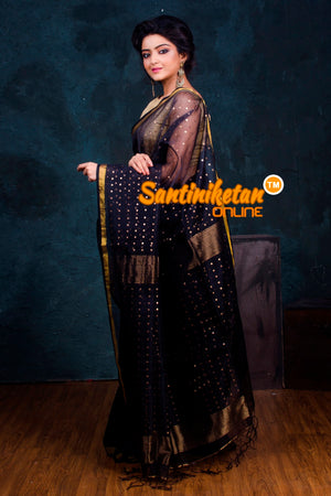 Black Matka Sequence Saree SN2018785