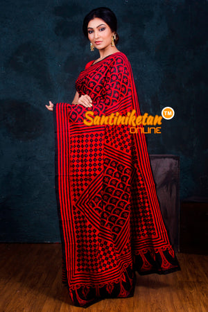 Kantha Stitch Saree SN2018795