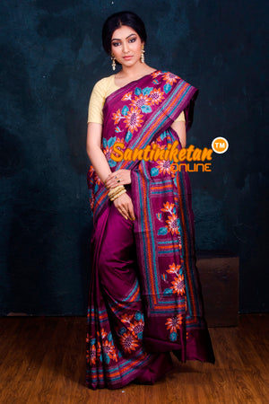Kantha Stitch Saree SN2018928