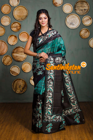 Hand Batik On Murshidabad Silk SN20182338