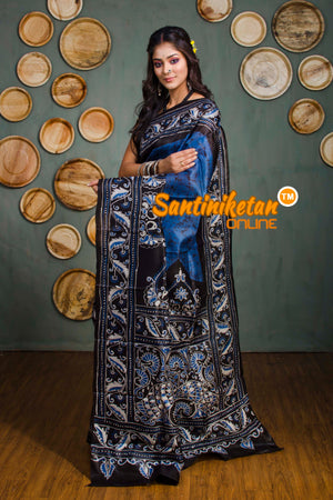 Hand Batik On Murshidabad Silk SN20182348