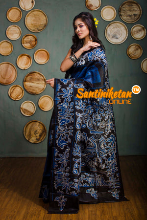 Hand Batik On Murshidabad Silk SN20182350