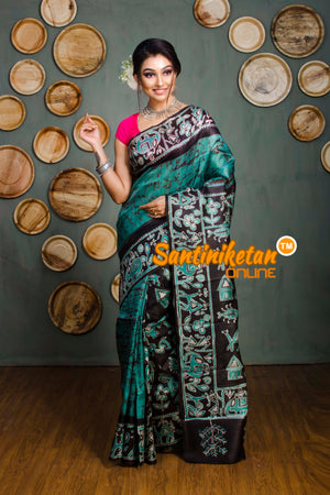 Hand Batik On Murshidabad Silk SN20182404
