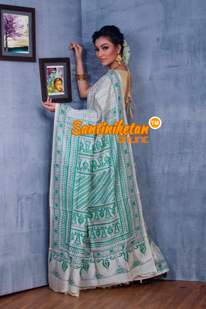 Traditional Kantha Stitch Saree SN2018860