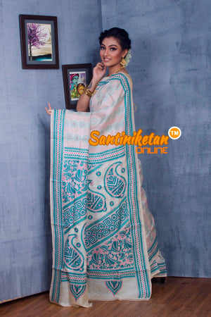 Traditional Kantha Stitch Saree SN2018865
